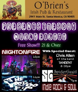 Night on Fire at O'Brien's Pub Mar 8, 2011 10PM