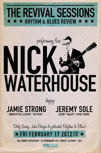 Nick Waterhouse poster