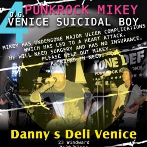 Mar 30: TONE DEF * Live Punk Rock Karaoke Benefit Concert for Mike Samuelson at Danny's Deli